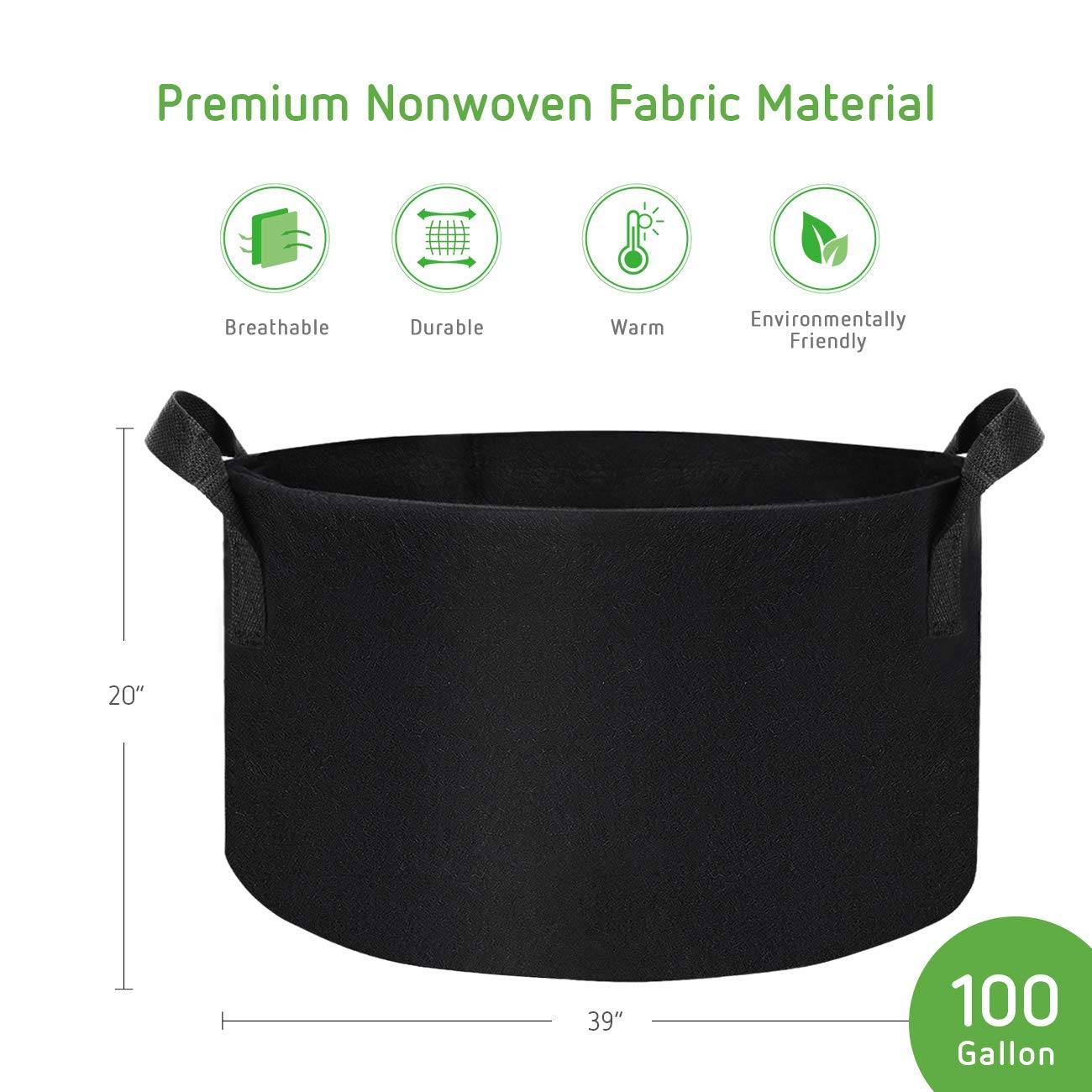 Patio, Lawn & Garden Fabric Pot with Handles for Growing Vegtables ...