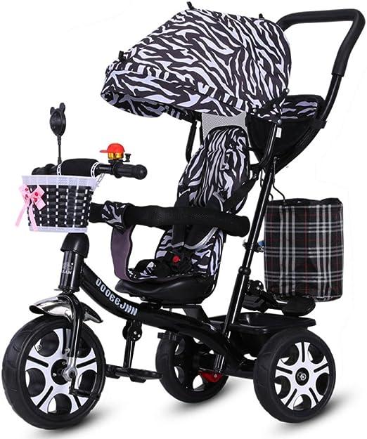 QXMEI Triciclo Infantil Bicicleta 1-3-6 Años Cochecito Bicicleta ...