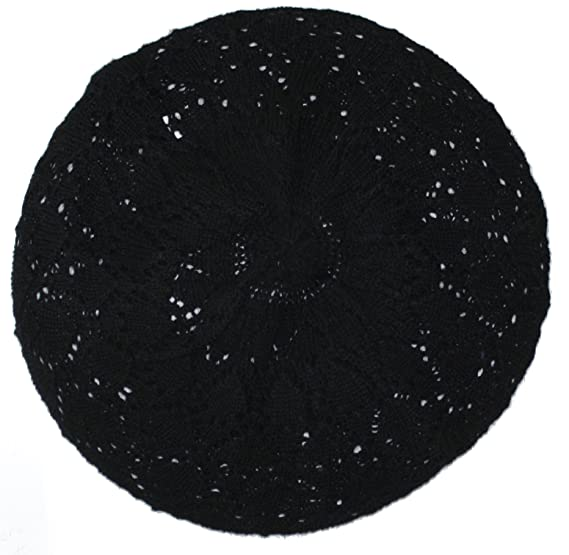 7eeb744ced0 Ted and Jack - Lightweight Knit Slouchy Beret (Black Knit) at Amazon ...