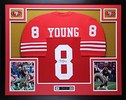 new product 6e74b 15f4d Steve Young Autographed Red 49ers Jersey - Beautifully ...