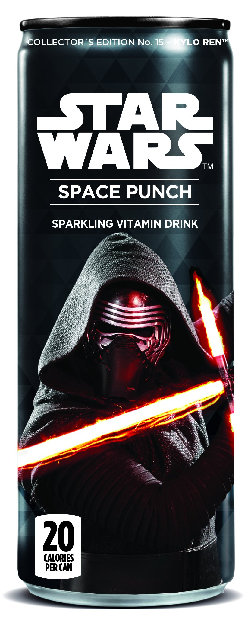 Star Wars Space Punch Sparkling Vitamin Drink, Collectors Edition No.13 - Kylo Ren Classic, 12 Oz. Cans (Pack of 12)