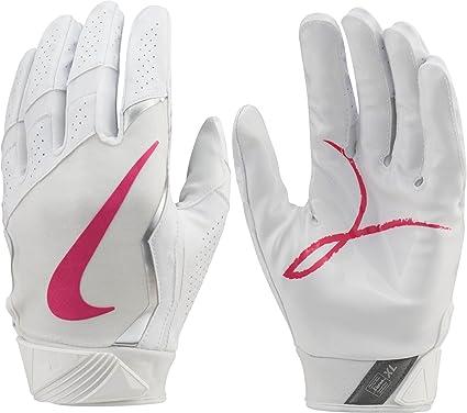 proposición Distinguir Buscar a tientas  Amazon.com : NIKE Adult Vapor Jet 4.0 2017 BCA Receiver Gloves -  White/Pink, M : Sports & Outdoors