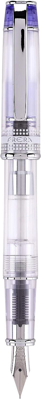 PILOT Prera Fountain Pen, Clear Barrel with Blue/Silver Accents, Fine Nib (60811)