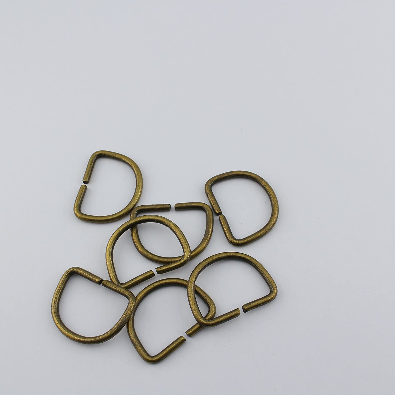 D-Ring Metall silber glänzend D Form 30mm