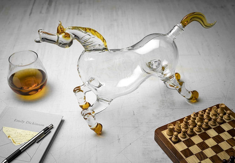 ZRXRY Jarra de Whisky Animal, 1000ml Caballo Derby de Cristal ...