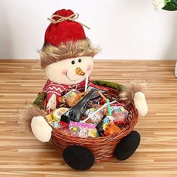 a7047b27b zantec artesanía de Navidad caramelos cesta decoración de escritorio Niños  Juguete puesta en página regalo regalo Papá Noel Muñeco de nieve Wapiti,  Snowman, ...