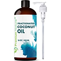 Fractionated Coconut Oil Massage Oil - Cold Pressed Pure MCT Oil for Essential Oils...