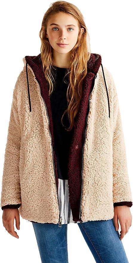 Vieliring - Sudadera con capucha para mujer, forro polar suave, color vino