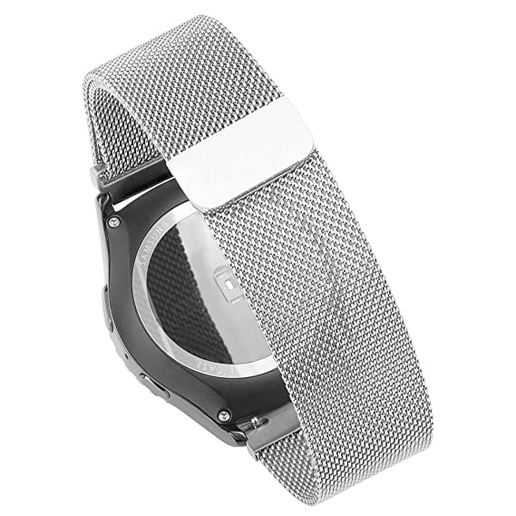 18MM Smart Watch Bands Pinhen Stainless Steel Milanese Mesh Watch Band For Huawei Withings Activité 18MM Smart Watch Bands (18MM Milanese Silver)
