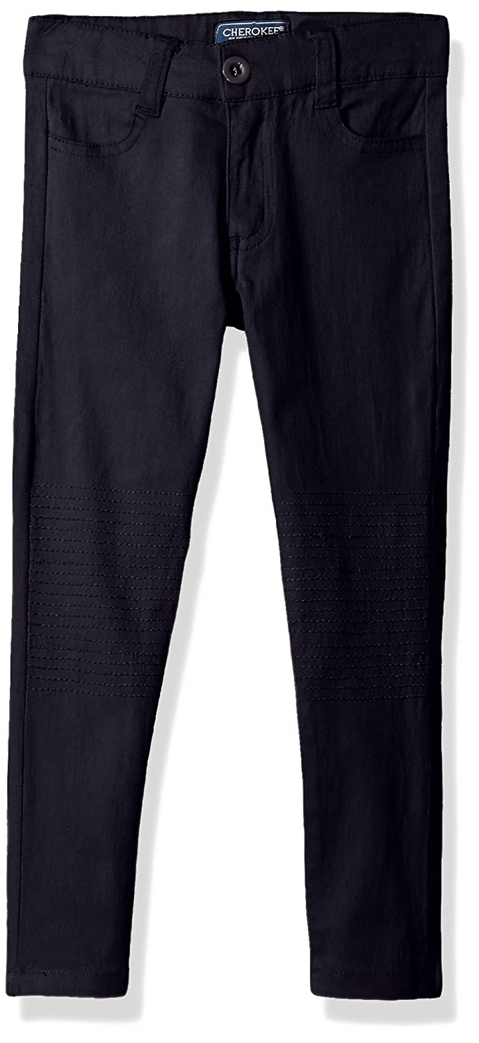 CHEROKEE Girls' Uniform Stretch Twill Moto Pant -