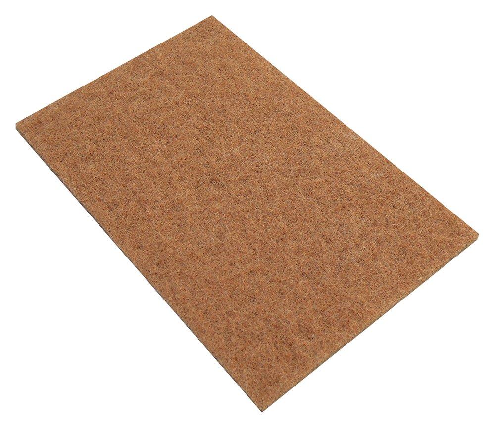 Glit/Microtron 510170 WalnutPad Walnut Shell Scratch Resistant Pad, 6'' x 9'', Brown (Pack of 20) by Glit / Microtron