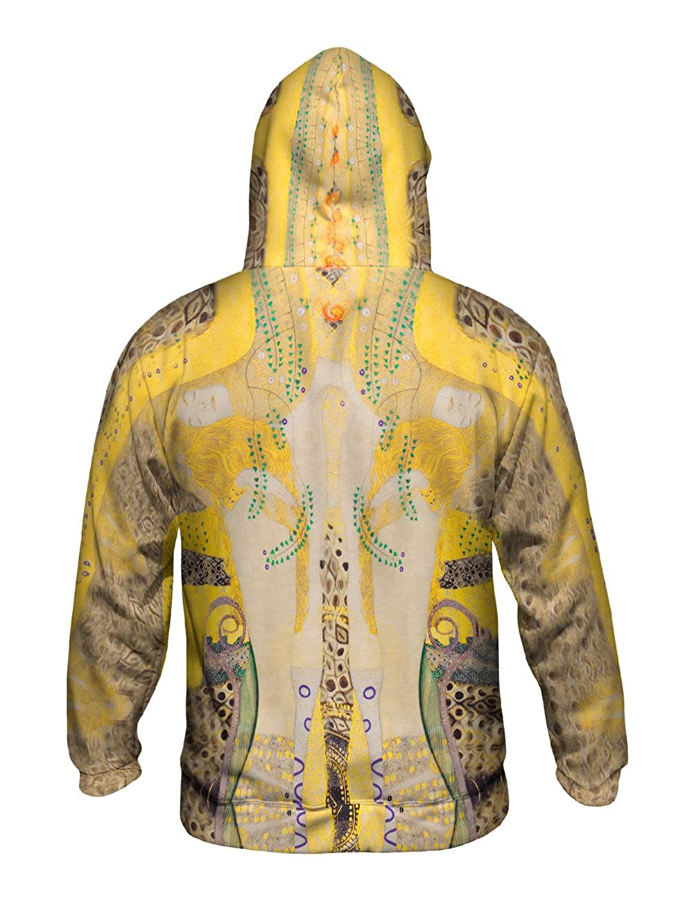 Yizzam- Gustav Klimt -Watersnakes Mens Hoodie 1907 -Allover Print