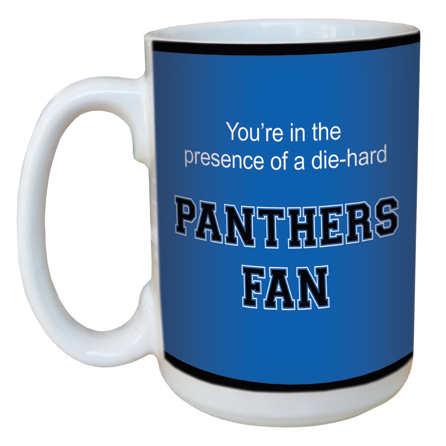 Tree-Free Greetings lm44445 Panthers College Football Fan Ceramic Mug with Full-Sized Handle, 15-Ounce