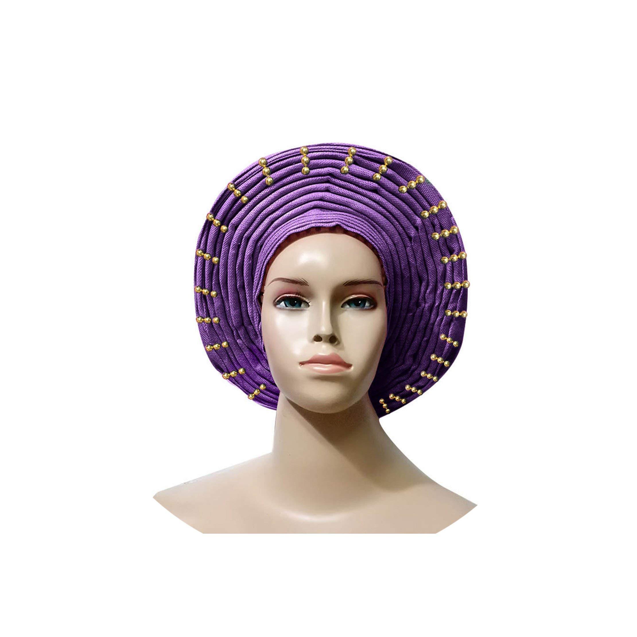 Shower Cap Already Made Head Wrap Ladies Hat Turban Muslim Cap,Purple by Spring-color-Shower cap