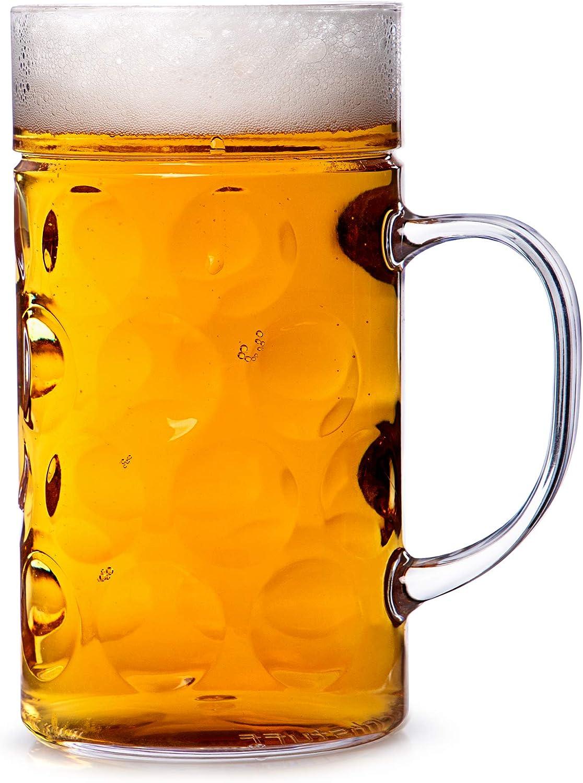 Vaso de plástico para cerveza de 568ml