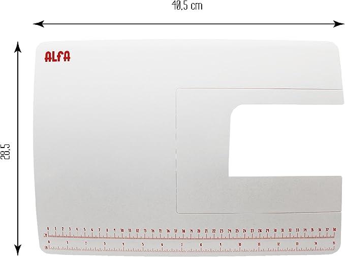 Alfa Mesa de Extensión para Máquina de Coser, Blanco, 28.5x40.5x3 ...