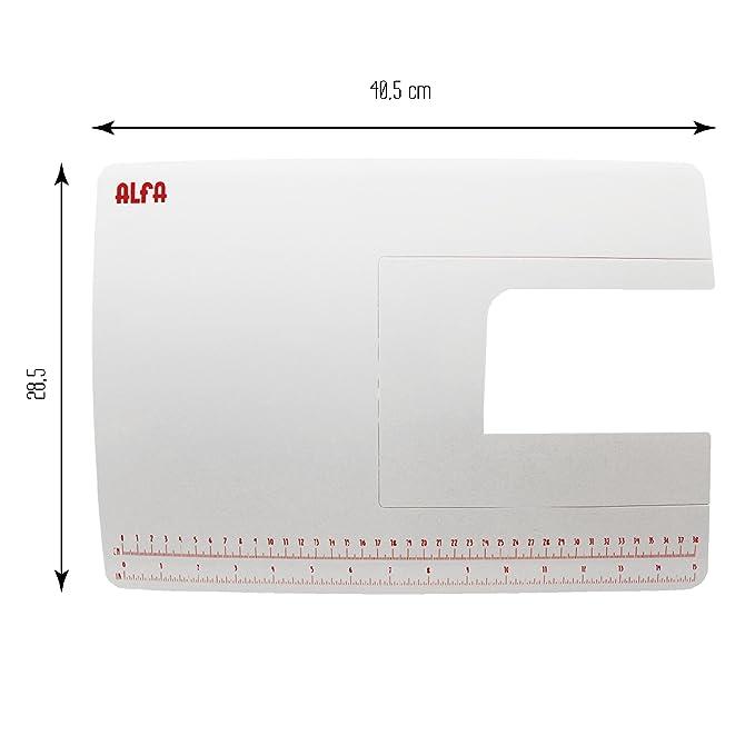 Alfa Mesa de Extensión para Máquina de Coser, Blanco, 28.5x40.5x3 cm: Amazon.es: Hogar