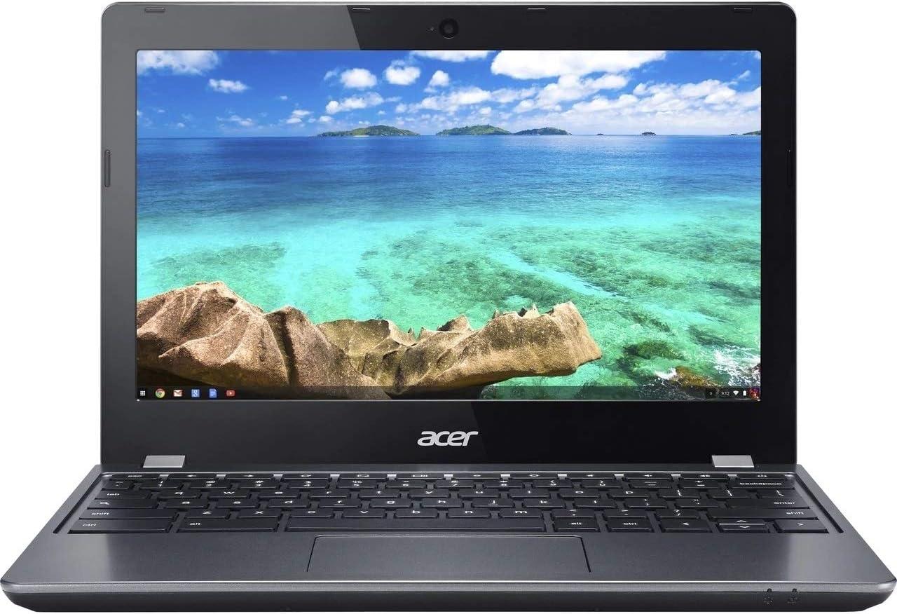 "Acer Chromebook C740-C4PE Intel Celeron 3205U X2 1.5GHz 4GB 16GB SSD 11.6"", Gray (Scratch and Dent)"