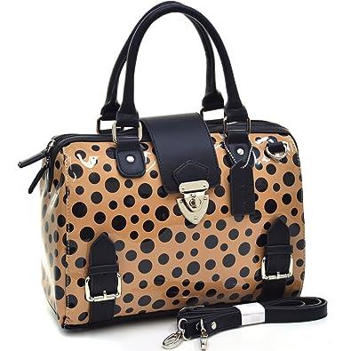 Dasein Women s Mini Barrel Satchel Handbag Shoulder Bag Purse 2686 Beige 8e3e59a4d