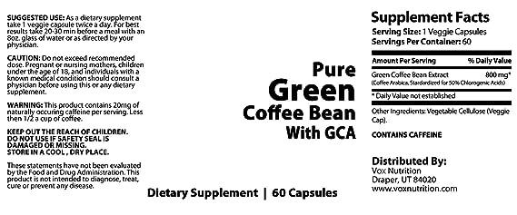 Amazon com: KFM Brands 100% Pure Green Coffee Bean: Everything Else