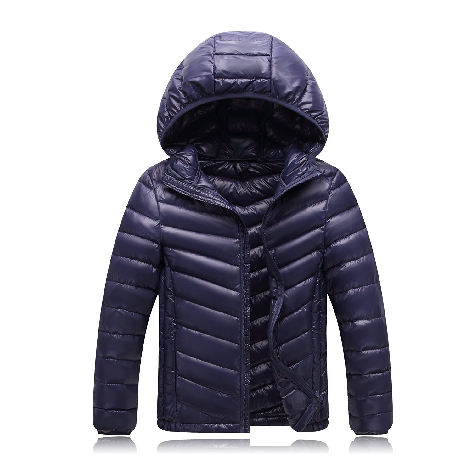 Shengdilu Unisex Kids Boys Girls Down Puffer Jacket Parka Coat Hood Outwear Outfit