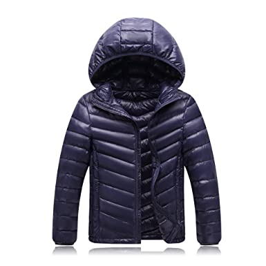 11a013a89bfa Amazon.com  CNMUDONSI Unisex Big Girls Boys Light Winter Outerwear ...