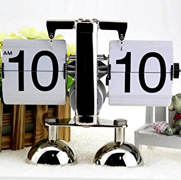 Automáticamente El Reloj Flip Flop Reloj Retro Minimalista Sala De Estar Decoraciones De Decoración Doméstica Pequeña