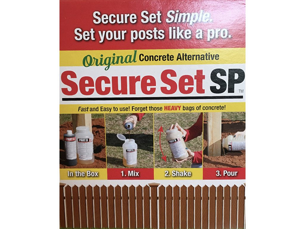 Secure Set SP (Shake & Pour) - 1 Post Kit - Commercial Grade - 32 oz. Fast, Secure & Safe Concrete Alternative for Easy Fence Post Installation by Secure Set (Image #4)