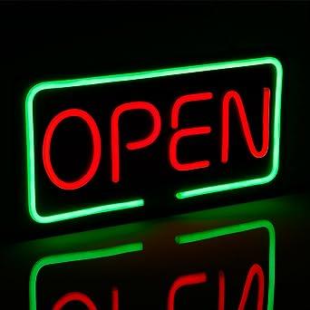 OPEN LED Neon Light Sign 19.7\u201d x 9.8\u201d Bright Neon Style