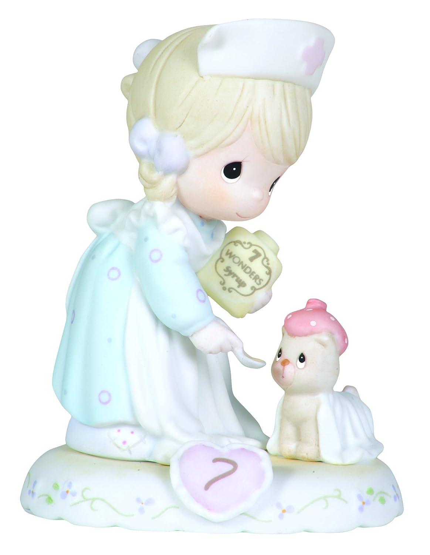 Precious Moments Brunette Girl Nurse Age 7 Figurine