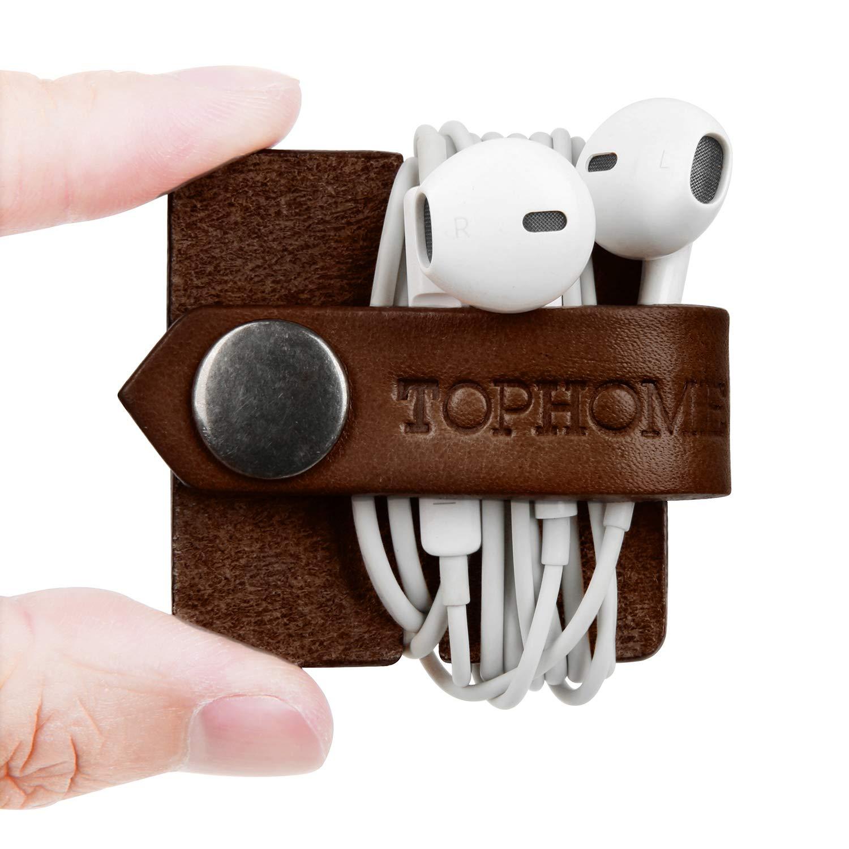 ParaClips de Cable USB,Cable Winder Tidy Wrap Carrete,Negro+Amarillo TOPHOME Cable de los Auriculares Bobinadora Cable Devanaderas Organizadores de Cable