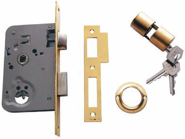 Tesa Assa Abloy, 201050HL, Cerradura de embutir para puertas de madera, Función de entrada, Acero Latonado: Amazon.es: Bricolaje y herramientas