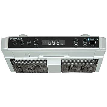 Curtis Sylvania SKCR2810BT Under Cabinet Clock Radio, Music System ...