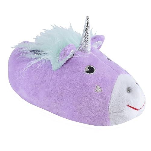 Chicas 3D Zapatillas Unicornio Novedad Púrpura EU 27-28