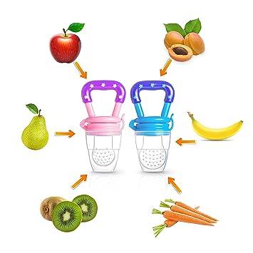 Amazon.com: Chupete de frutas para bebé y alimentador de ...