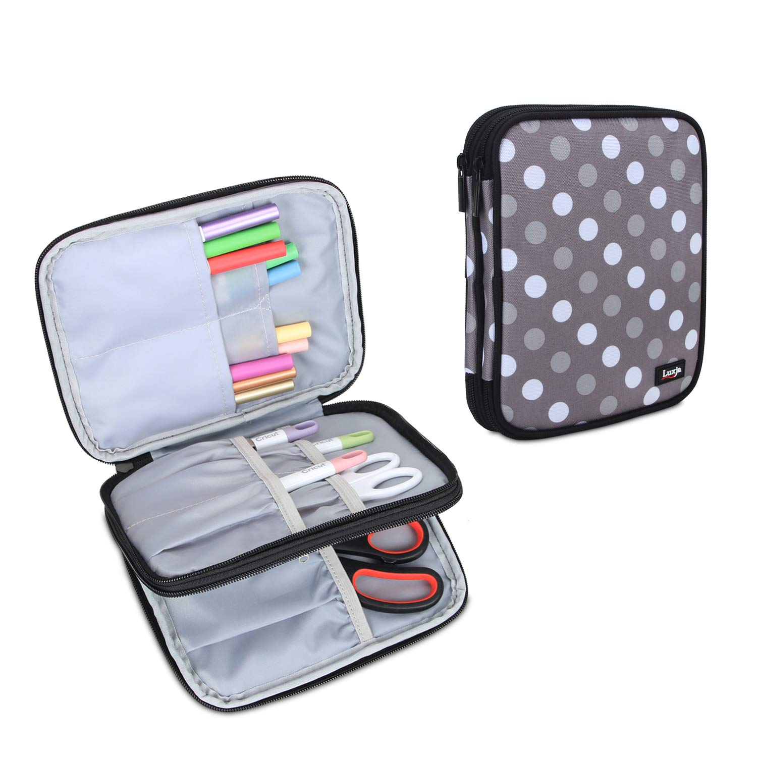 Green Bag Only Luxja Carrying Bag for Cricut Pen Set and Basic Tool Set Double-Layer Organizer for Cricut Accessories