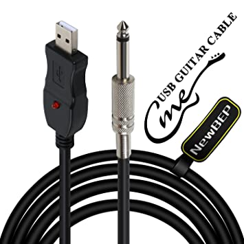 amazon com usb guitar cable guitar bass to pc usb recording cable usb guitar cable guitar bass to pc usb recording cable adapter converter connection interface