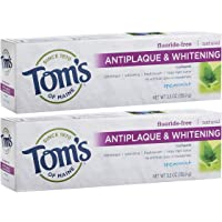 Tom's of Maine 2-Pack of 5.5 Ounce Fluoride-Free Antiplaque & Whitening Toothpaste