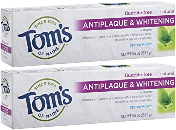 Tom's of Maine 2-Pack of 5.5 Ounce Antiplaque & Whitening Toothpaste