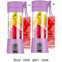 Tiru Traders Portable USB Electric Juicer, Blender Drink Bottle,380Ml Juicer Cup Buy one get one