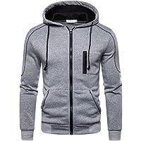 Hoodie Heren met Rits Sweatshirt Jacket Lange Mouw Hoodies Sweatshirts Capuchon Sweatjack