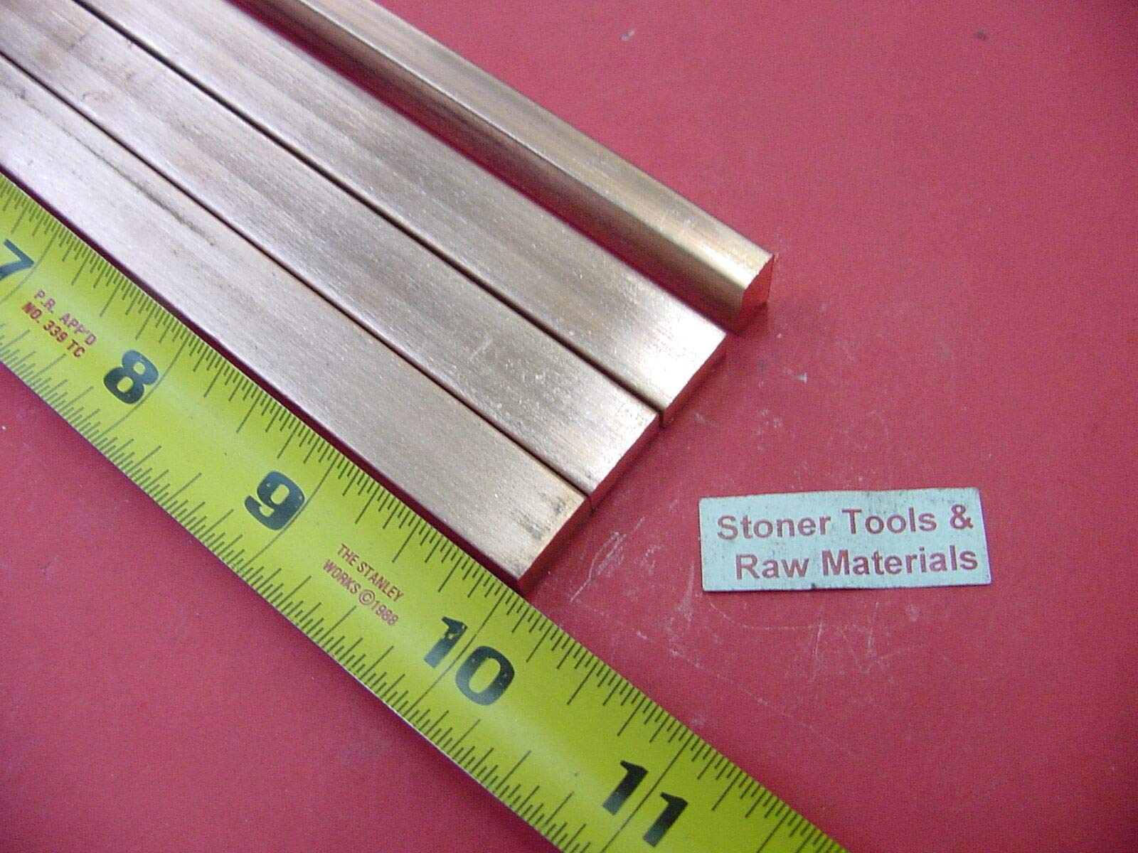 4 Pieces 1/4''x 1/2'' C110 COPPER BAR 10'' long Solid Flat .25'' Bus Bar Stock H02 by Okumahome