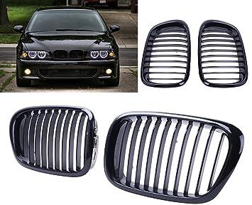 SENGEAR Rejillas negras brillantes frontales para BMW E39 525 528 530 535 M5 1997 - 2003: Amazon.es: Coche y moto