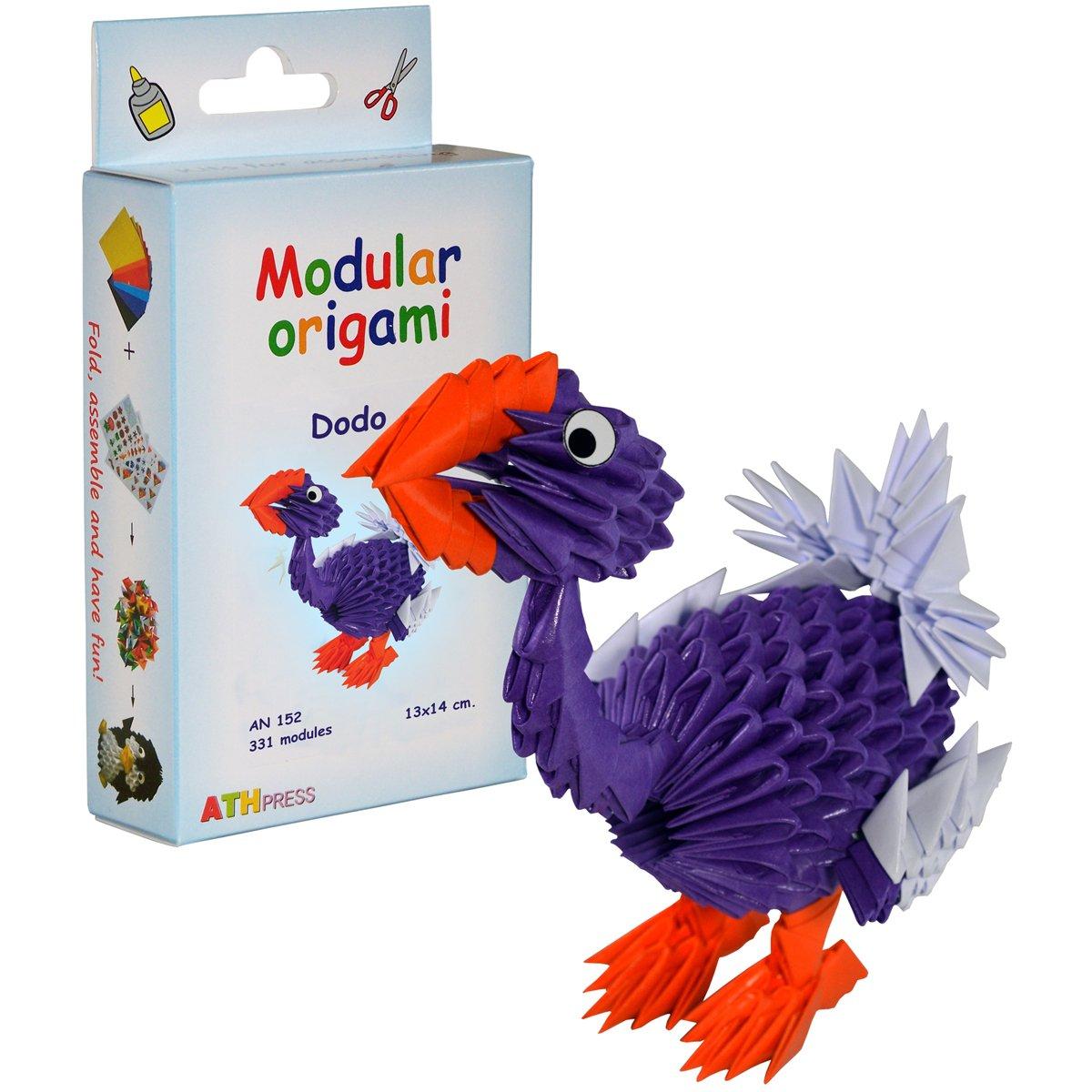 Origami modulare Set carta 331 pezzi dodo piccolo