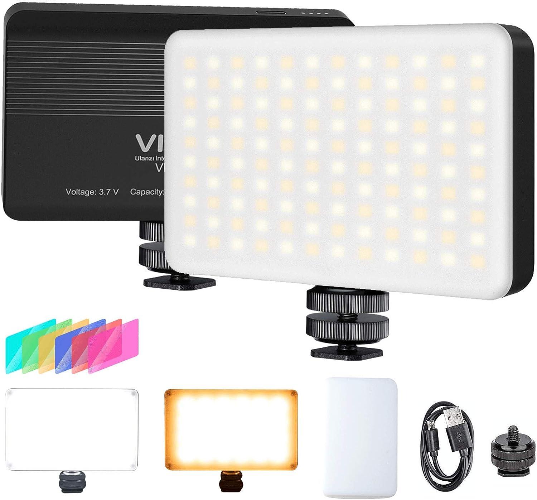 Vijim Vl120 Led Video Light With Softbox And Color Camera Photo