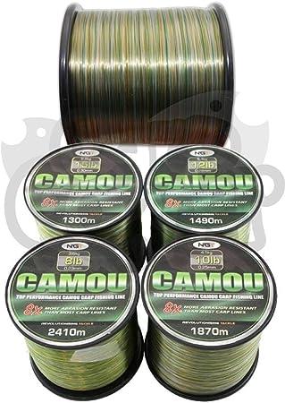 2 x Massengut Spulen Karpfen /& Grob Angelschnur Camo Farbe erh/ältlich in 3,6 kg 4,5 kg 5,4 kg 6,8 kg Tragkraft