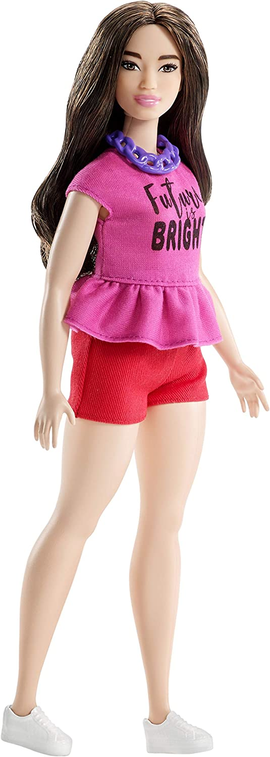 Barbie Crayola Collection Pink Print Shorts CURVY  PETITE Made To Move Doll
