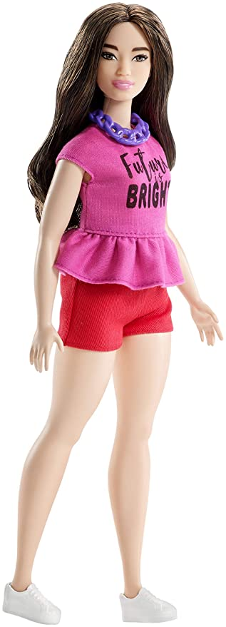 Amazon.es: Barbie Fashionista Muñeca cuerpo Curvy, look Future is bright (Mattel FJF58): Juguetes y juegos