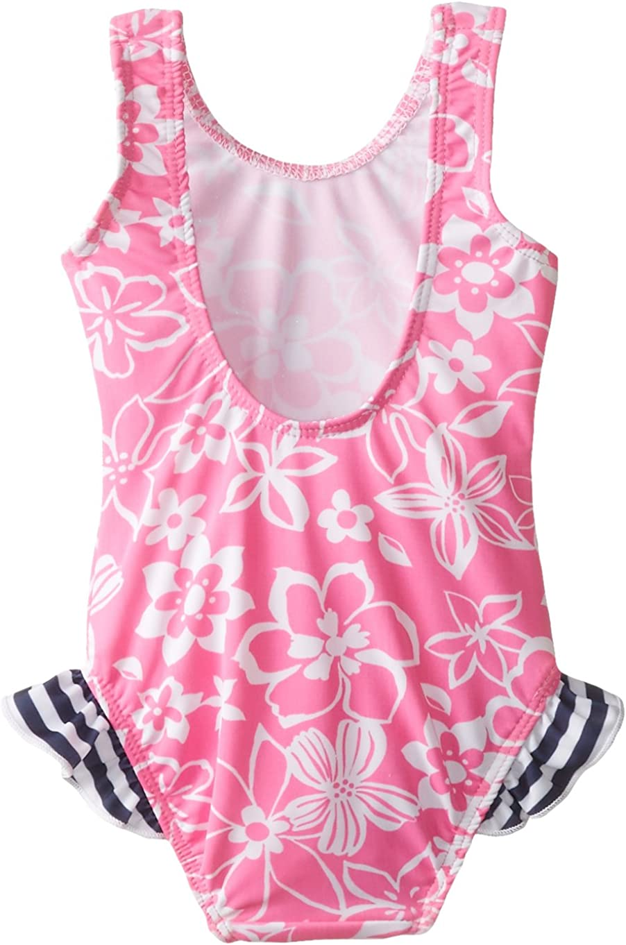 Flap Happy Baby Girls Delaney Hip Ruffle Swimsuit In Polyester Spandex