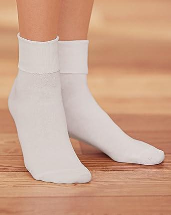 Calcetines de algodón 100 % para mujer, color marrón (BUSTER BROW), paquete de 3 pares - Blanco - S: Amazon.es: Ropa y accesorios